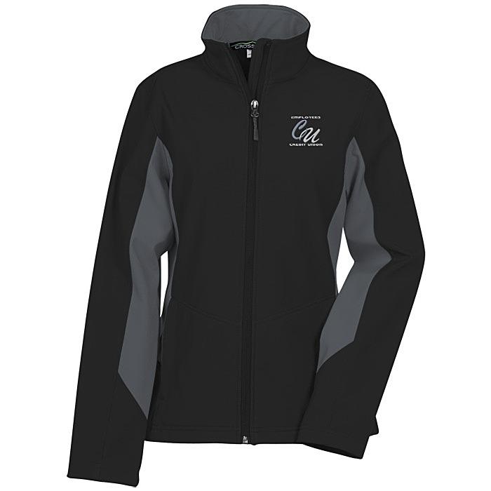 64b9cafaed4c 4imprint.com  Crossland Colorblock Soft Shell Jacket - Ladies  119678-L