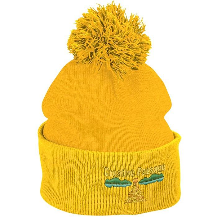 637f6cde176 4imprint.com  Pom Pom Knit Hat 121227