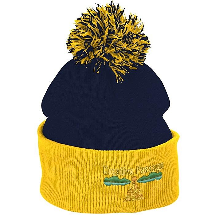 4imprint.com  Pom Pom Knit Hat 121227 65ea25181ed