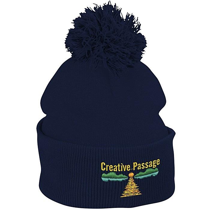 0d2dfa683c4 4imprint.com  Pom Pom Knit Hat 121227