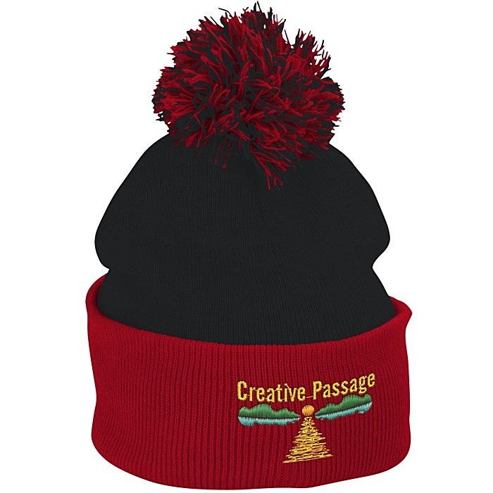 17f87dafac2b3d 4imprint.com: Pom Pom Knit Hat 121227