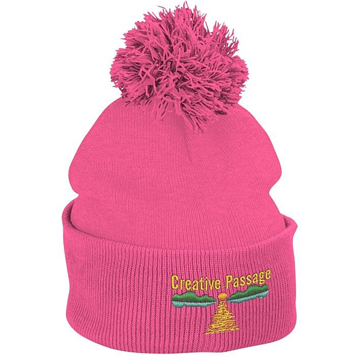 413fdbe36b6 4imprint.com  Pom Pom Knit Hat 121227