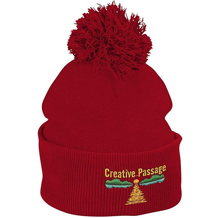 da4fd3a023a 4imprint.com  Pom Pom Knit Hat 121227