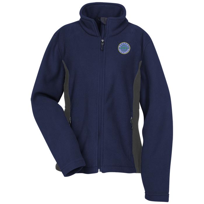 ca6b38c92 4imprint.com: Crossland Colorblock Fleece Jacket - Ladies' 123990-L-CB