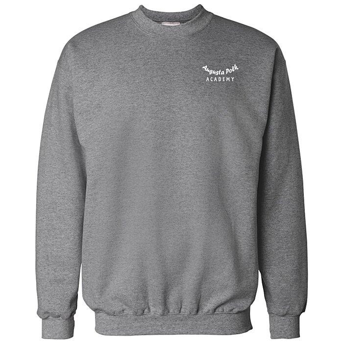Cotton Ultimate Sweatshirt Crew Screen Hanes 1cTFlKJ3