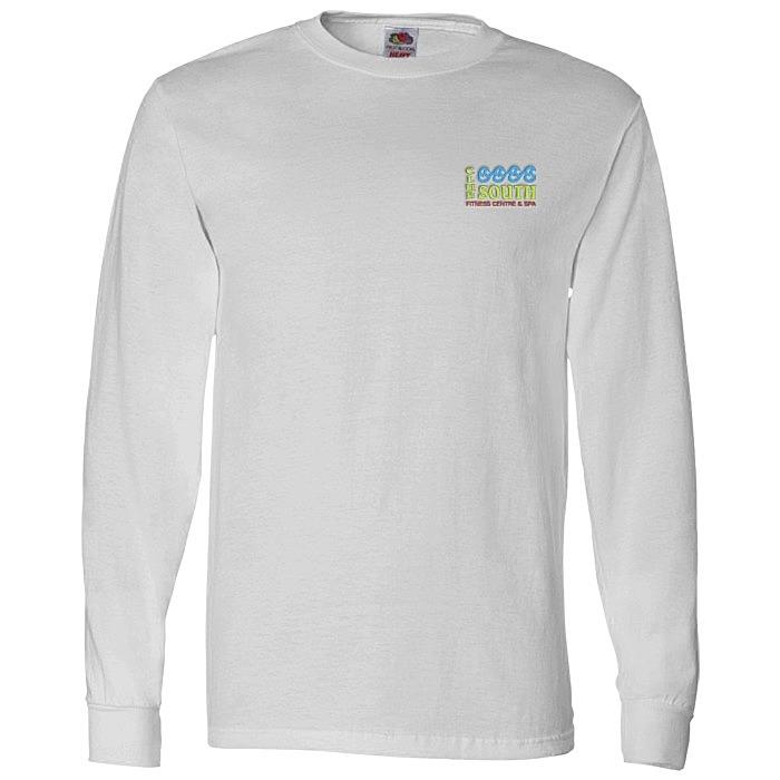 b8863d331966 4imprint.com: Fruit of the Loom Long Sleeve 100% Cotton T-Shirt ...