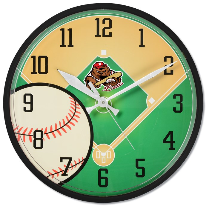 4imprint Com Baseball Wall Clock 131214 Bs Imprinted With Your Logo