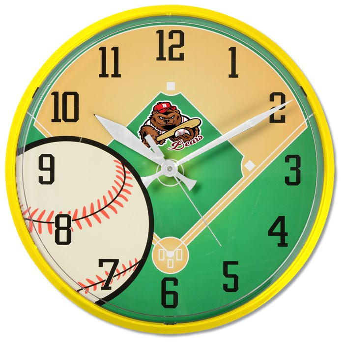 4imprint Com Baseball Wall Clock 131214 Bs Imprinted