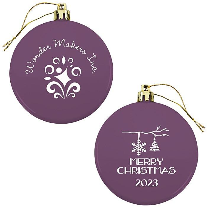 Flat Shatterproof Ornament - Snowflake - Merry Christmas
