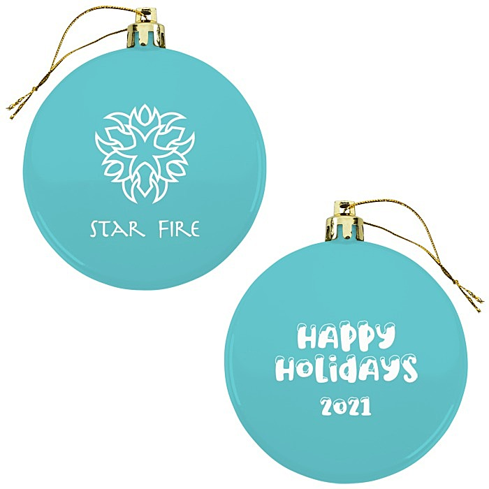 4imprint Com Flat Shatterproof Ornament Happy Holidays