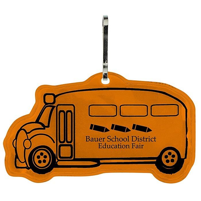 4imprint Com Reflective Zipper Pull School Bus 132938 Bus