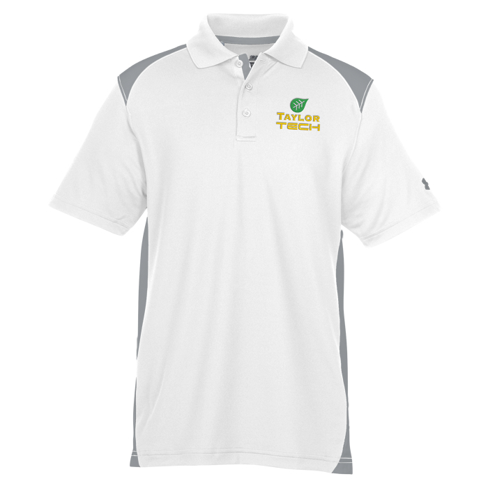 Under armour team colorblock polo men 39 s for Under armour embroidered polo shirts