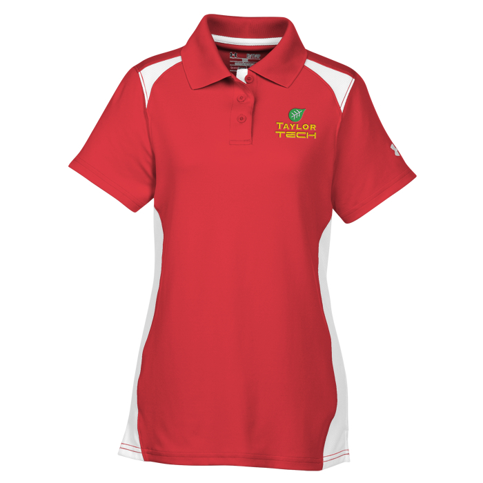Under armour team colorblock polo ladies for Under armour embroidered polo shirts