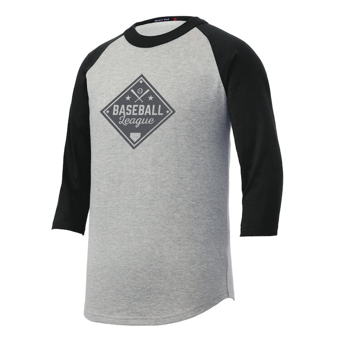 92e3e3566 4imprint.com: Colorblock 3/4 Sleeve Cotton Baseball T-Shirt - Youth ...
