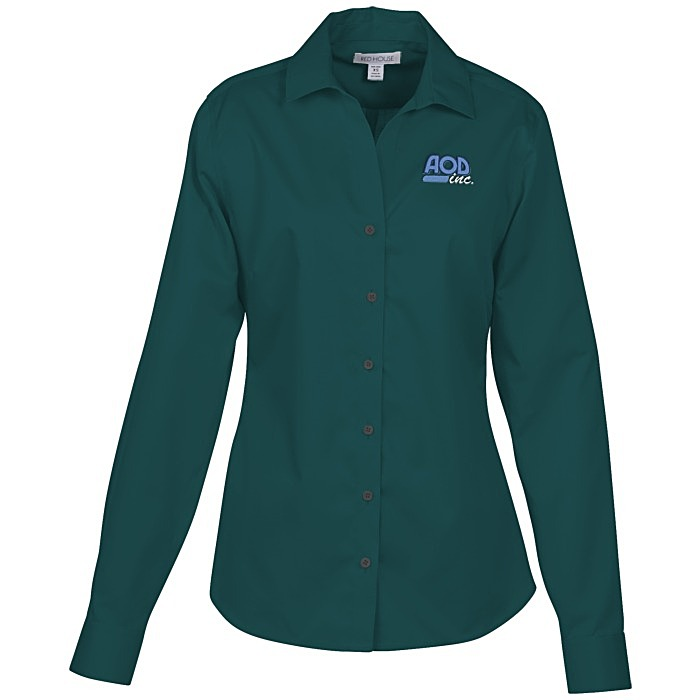Wrinkle free twill shirt ladies 39 136327 l for Best wrinkle free shirts
