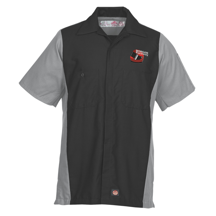 Red kap mechanic crew short sleeve for Red kap mechanic shirts