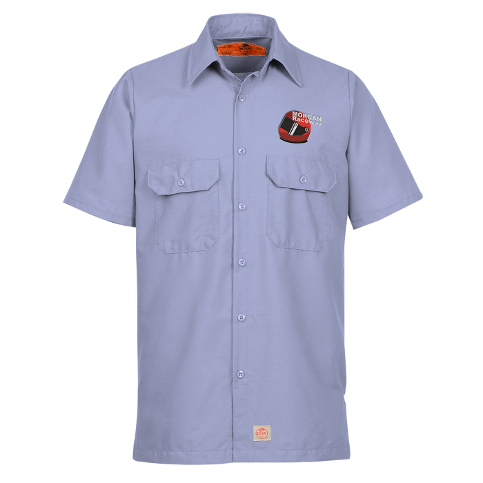 Red kap mechanic crew short sleeve shirt item no 134660 for Red kap mechanic shirts