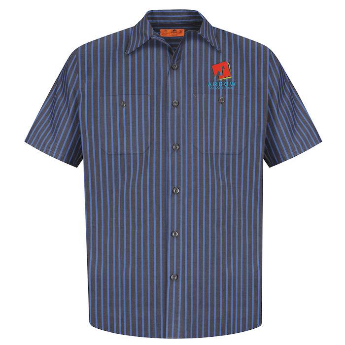 6a9c5c86ee95f 4imprint.com: Red Kap Technician Short Sleeve Striped Work Shirt ...