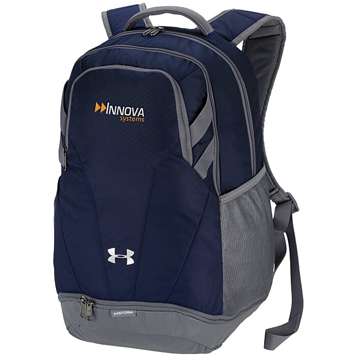 4imprint.com  Under Armour Hustle II Backpack - Embroidered 145423-E a744579d9f240