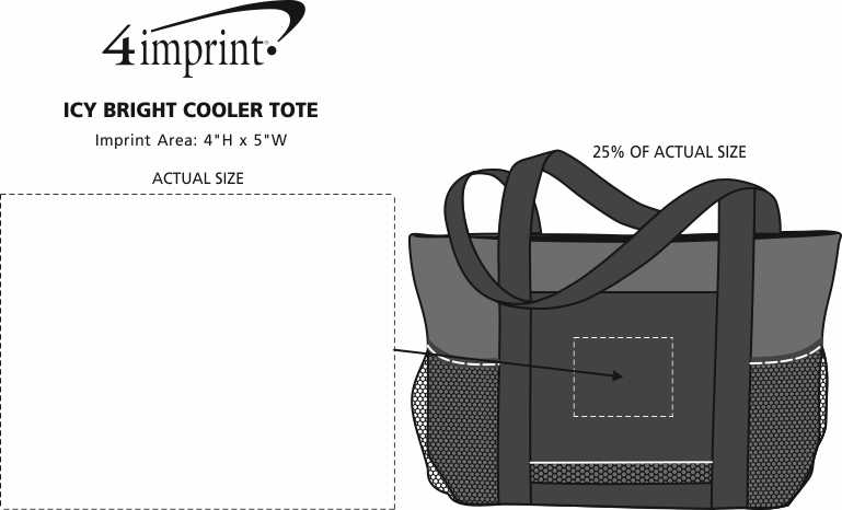 Imprint Area of Icy Bright Cooler Tote