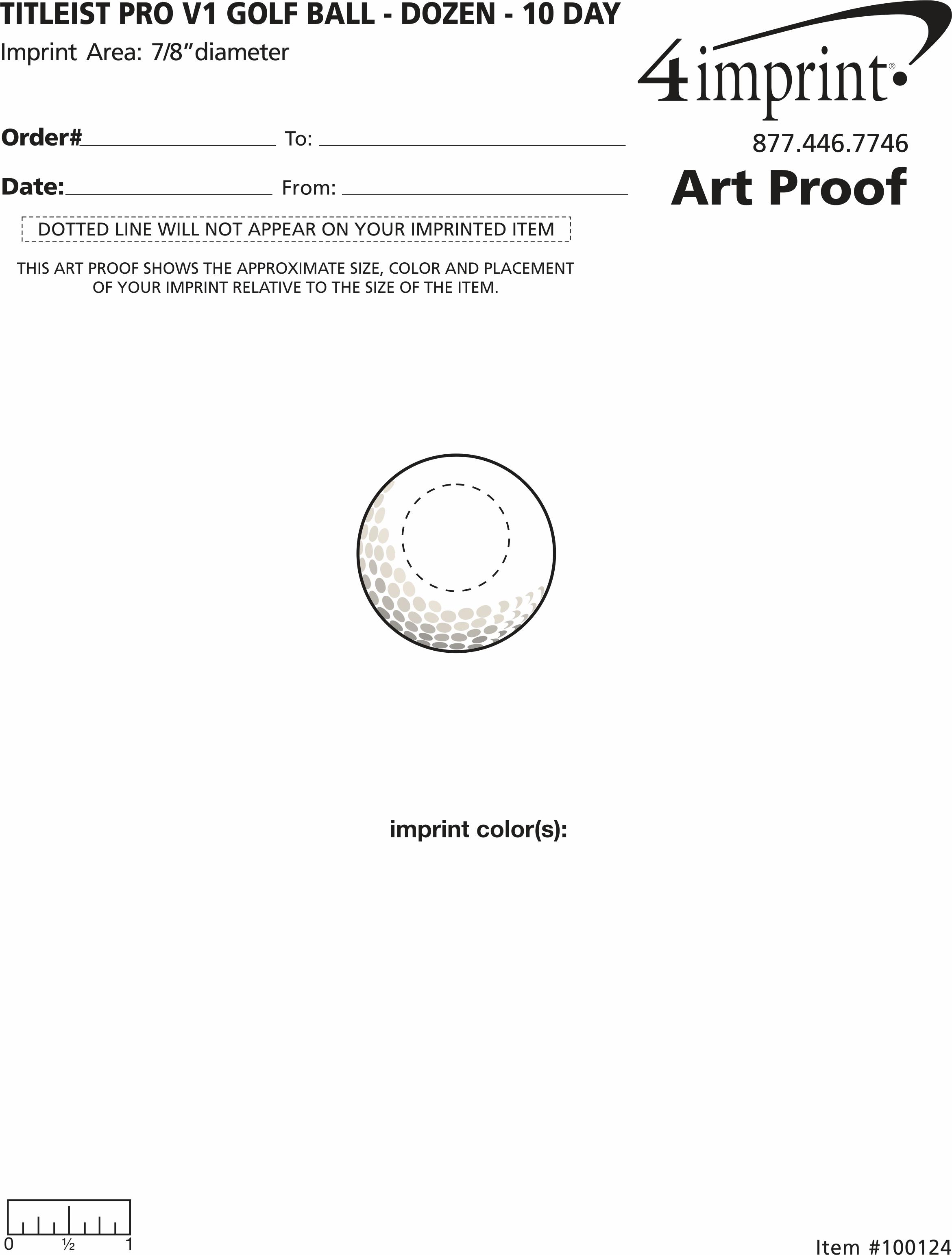 Imprint Area of Titleist Pro V1 Golf Ball - Dozen - Factory Direct