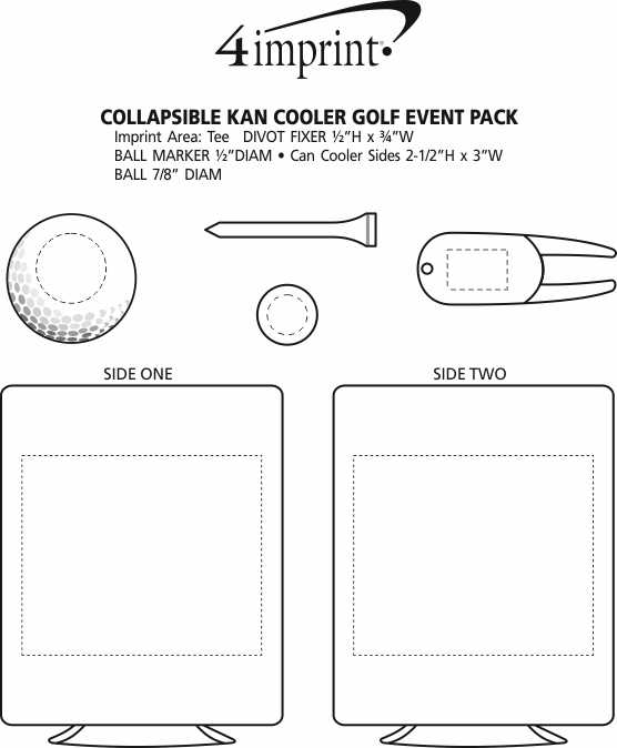 Imprint Area of Collapsible Kan Cooler Golf Event Pack