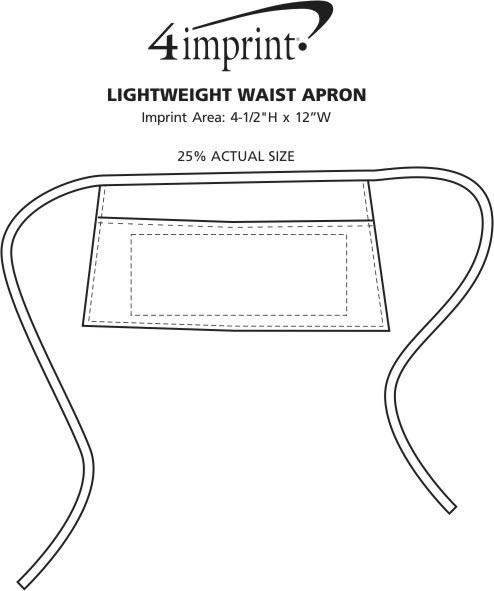 Imprint Area of Lightweight Waist Apron
