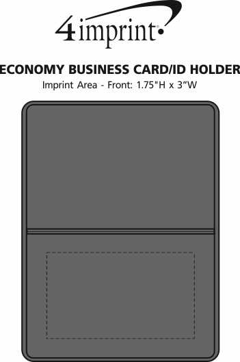Imprint Area of Business Card/ID Holder