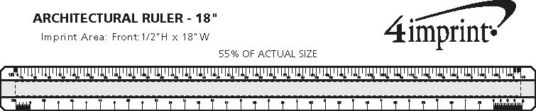 Imprint Area of Architectural Ruler - 18""