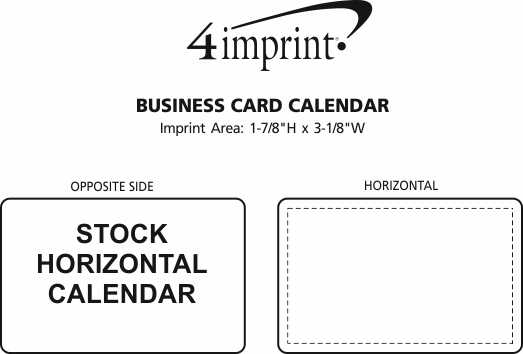 Imprint Area of Business Card Calendar