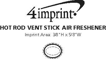 Imprint Area of Hot Rod Vent Stick Air Freshener