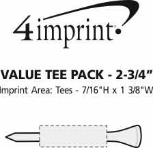 Imprint Area of Tees and Ball Marker Pack - 2-3/4""
