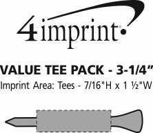 """Imprint Area of Tees and Ball Marker Pack - 3-1/4"""""""