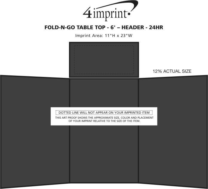 Imprint Area of Fold N Go Tabletop Display - 6' - Blank - 24 hr