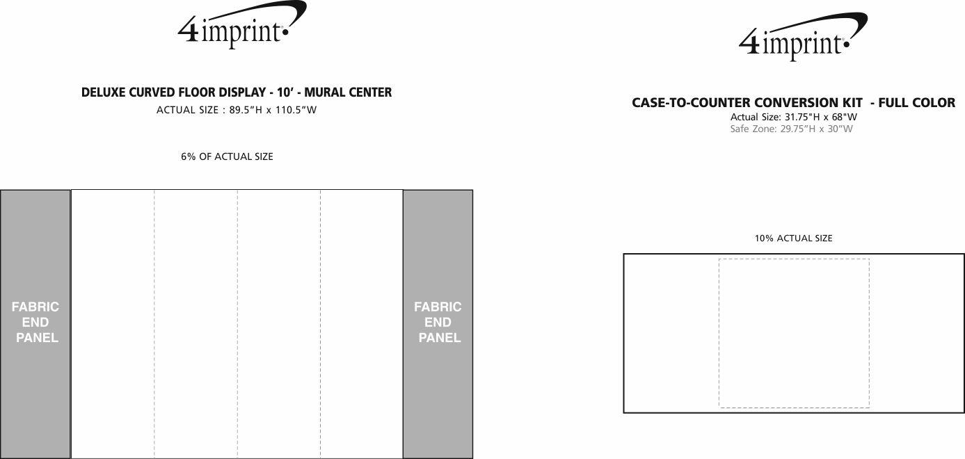 Imprint Area of Deluxe Curved Floor Display - 10' - Mural Center