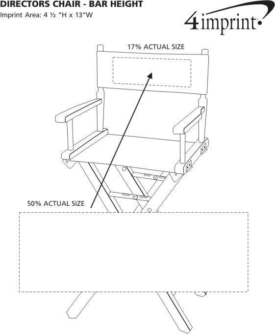 Imprint Area of Director Chair - Bar Height