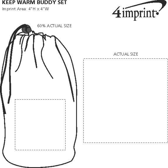Imprint Area of Keep Warm Buddy Set