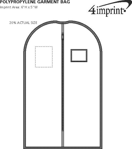 Imprint Area of Polypropylene Garment Bag