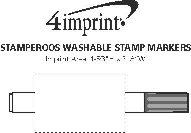 Imprint Area of Stamperoos Washable Stamp Markers