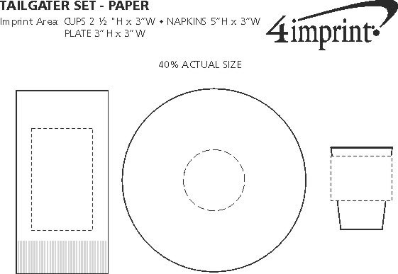 Imprint Area of Tailgater Set - Paper