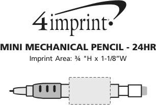 Imprint Area of Mini Mechanical Pencil - 24 hr