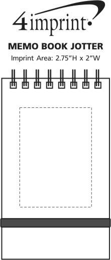 Imprint Area of Memo Book Jotter
