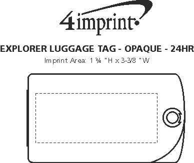 Imprint Area of Explorer Luggage Tag - Opaque - 24 hr