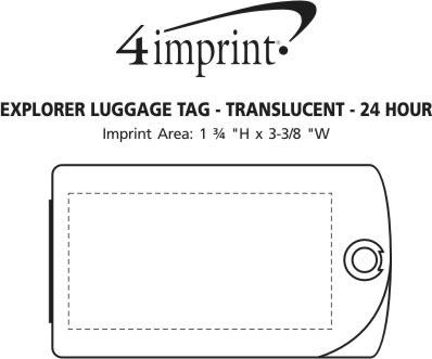 Imprint Area of Explorer Luggage Tag - Translucent - 24 hr