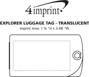 Imprint Area of Explorer Luggage Tag - Translucent
