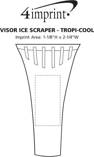 Imprint Area of Visor Ice Scraper - Translucent