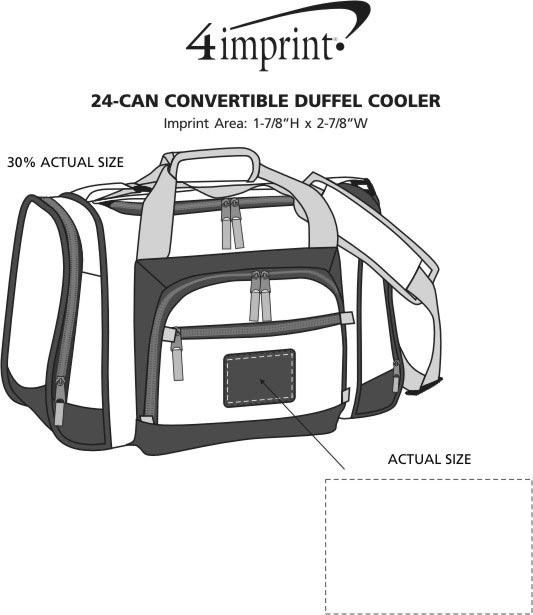 Imprint Area of 24-Can Convertible Duffel Cooler