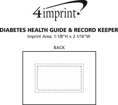Imprint Area of Diabetes Health Guide & Record Keeper