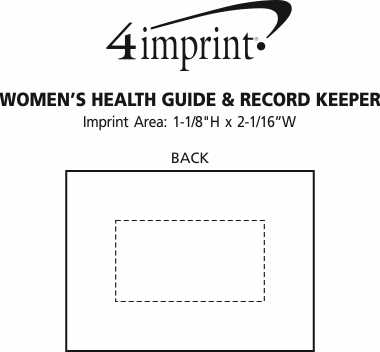 Imprint Area of Women's Health Guide & Record Keeper