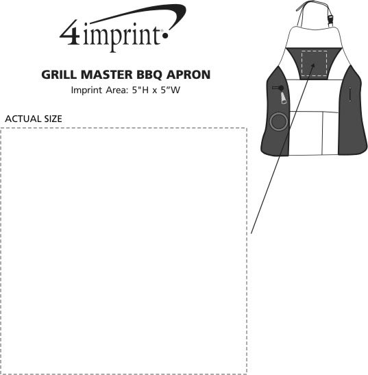 Imprint Area of Grill Master BBQ Apron